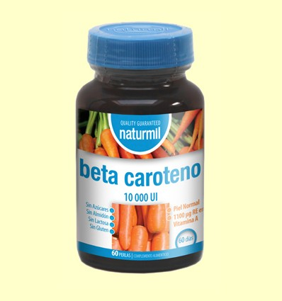Betacaroteno 10.000UI - Naturmil - 60 perlas