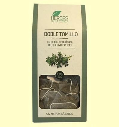 Infusión doble Tomillo Eco - Herbes de la Conca - 12 pirámides *