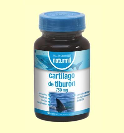 Cartílago de Tiburón 750mg - Naturmil - 45 cápsulas