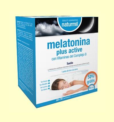 Melatonina Plus Active - Naturmil - 90 comprimidos