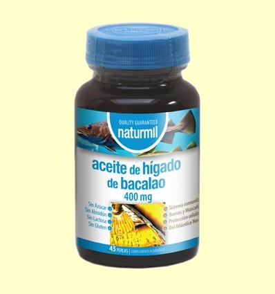 Aceite de Hígado de Bacalao 400mg - Naturmil - 45 perlas