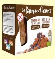 Pan crujiente con Cacao Bio - Le Pain des fleurs - 160 gramos