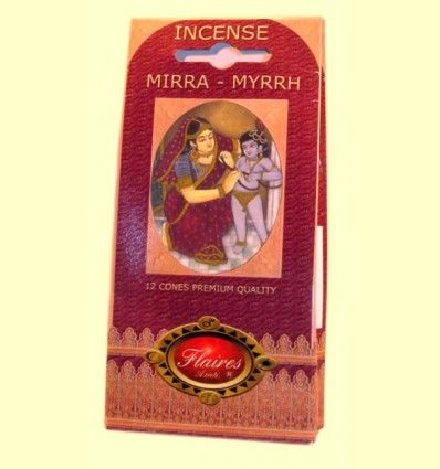 Incienso Cono Mirra - Myrrh - Flaires - 12 conos