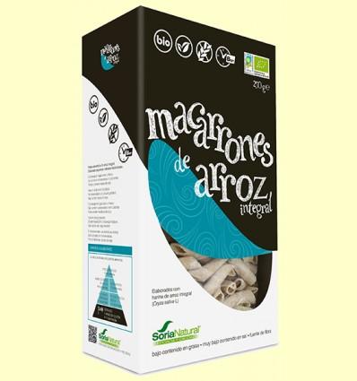 Macarrones de Arroz Integral Bio - Soria Natural - 250 gramos