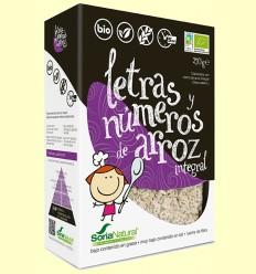 Letras y Números de Arroz Integral Bio - Soria Natural - 250 gramos