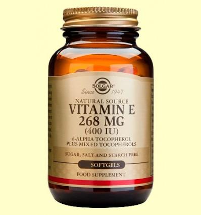 Vitamina E 268 mg 400 UI - Solgar - 100 cápsulas