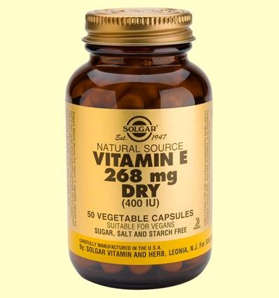 Vitamina E Seca de fuente natural 268 mg - Solgar - 50 cápsulas vegetales