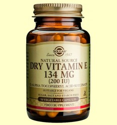 Vitamina E Seca 134 mg 200 UI - Solgar - 50 cápsulas