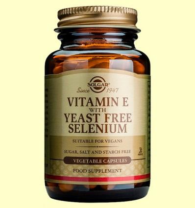 Vitamina E con Selenio sin Levadura - Solgar - 100 cápsulas vegetales