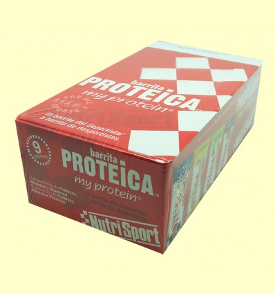 Barrita Proteica - Sabor Vainilla & Cookies - NutriSport - 24 barritas