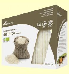 Tostadas Ligeras de Arroz Integral Bio - Soria Natural - 90 gramos