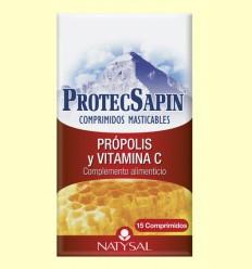 ProtecSapin - Própolis y Vitamina C- Natysal - 15 comprimidos masticables