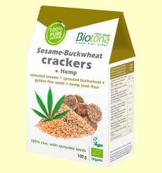Crackers Sesamo Germinado Bio - Biotona - 100 gramos