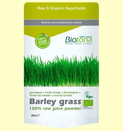 Hierba de Cebada en Polvo Bio - Biotona - 200 gramos