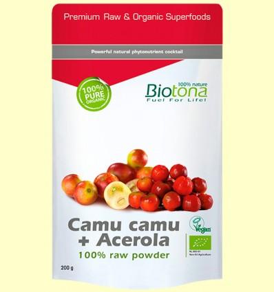 Camu Camu + Acerola en Polvo Bio - Biotona - 200 gramos