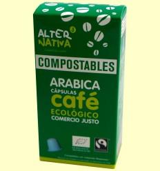 Café arábica BIO FT compostable - Alternativa3 - 10 cápsulas