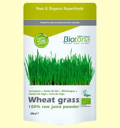 Hierba de Trigo en Polvo Bio - Biotona - 200 gramos