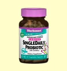 SingleDaily Probiotic con Cranberry® - Bluebonnet - 30 cápsulas