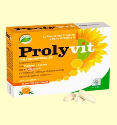 Prolyvit - Propóleo y Acerola - Noefar - 20 tabletas masticables