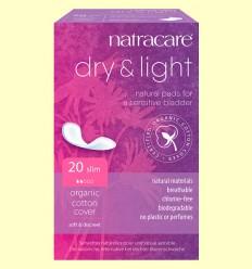 Compresas Dry&Light Bio - Incontinencia - Natracare - 20 unidades