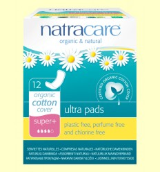 Compresas Ultra Bio - Super Plus - Natracare - 12 unidades