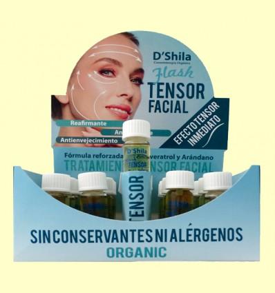 Flash Tensor Facial Bio con Colágeno y Elastina - D'Shila - 20 x 12 ml