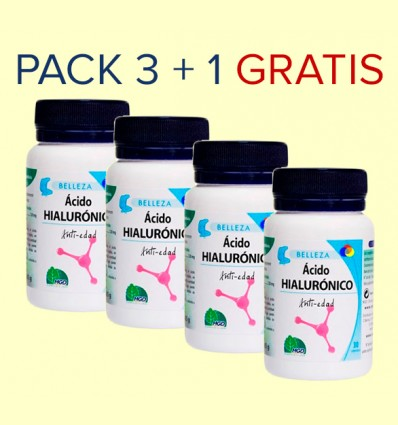 Ácido Hialurónico - MGD - Pack 3+1 GRATIS - 120 cápsulas