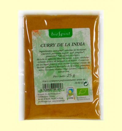 Curry de la India Bio - Biospirit - 25 gramos