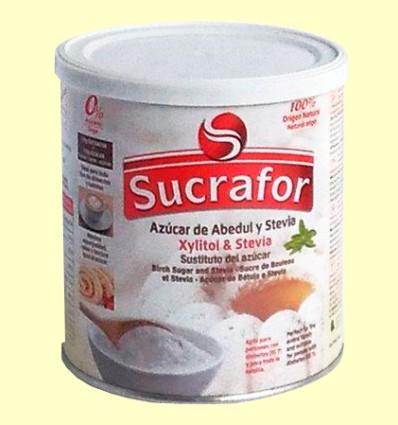 Azúcar de Abedul con Xylitol y Stevia - Sucrafor - 500 gramos