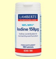 Iodine - Yodo Extracto de Kelp 150 µg - Lamberts - 180 tabletas *
