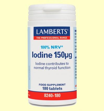 Iodine 150 µ - Yodo Yoduro de Potasio - Lamberts - 180 tabletas
