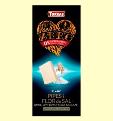 Chocolate Blanco con Semillas de Girasol Flor de Sal - Torras - 125 gramos *