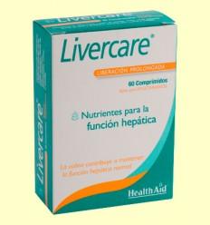 Livercare - Liberación prolongada - Health Aid - 60 comprimidos
