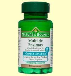 Multi de Enzimas con Betaina y Aceite de Menta - Nature's Bounty - 90 cápsulas *