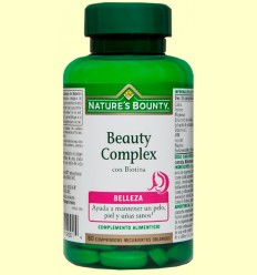Beauty Complex con Biotina - Nature's Bounty - 60 cápsulas