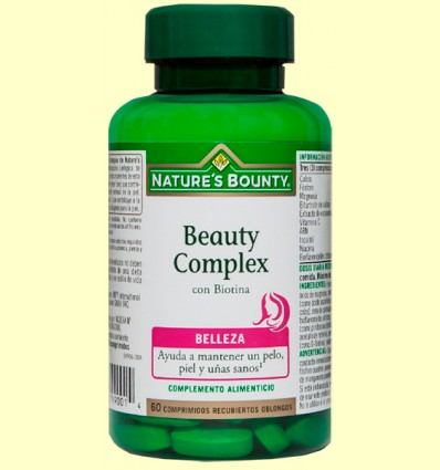 Beauty Complex con Biotina - Nature's Bounty - 60 cápsulas