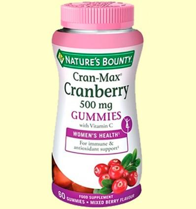Cran-Max Arándano Rojo 500 mg - Nature's Bounty - 60 cápsulas