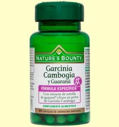 Garcinia cambogia y guaraná - Nature's Bounty - 60 cápsulas *