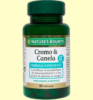Cromo & canela - Nature's Bounty - 30 cápsulas