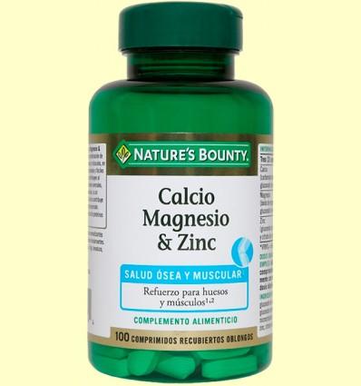 Calcio magnesio & zinc - Nature's Bounty - 100 cápsulas