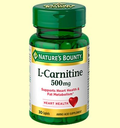L-Carnitina 500 mg - Nature's Bounty - 30 cápsulas