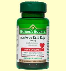 Aceite de Krill Rojo 500 mg - Nature's Bounty - 40 cápsulas