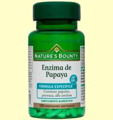 Enzima de Papaya - Nature's Bounty - 100 cápsulas *