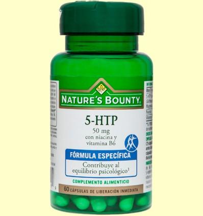 5-HTP 50 mg con Niacina y Vitamina B6 - Nature's Bounty - 60 cápsulas