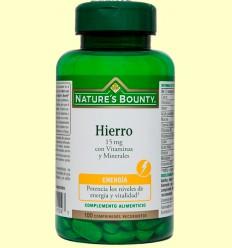 Hierro 15 mg con Vitaminas y Minerales - Nature's Bounty - 100 comprimidos