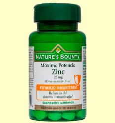 Zinc 25 mg - Nature's Bounty - 100 comprimidos