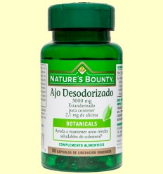 Ajo Desodorizado 3.000 mg (Estandarizado) - Nature's Bounty - 50 cápsulas