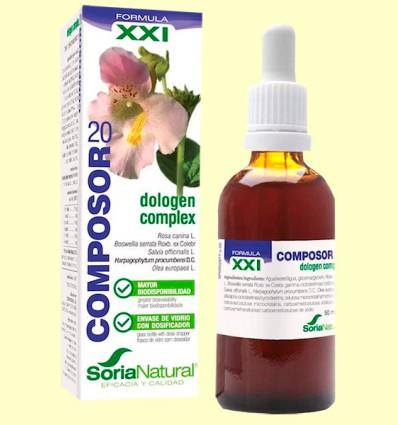 Composor 20 - Dologen Complex Fórmula XXI - Soria Natural - 50 ml