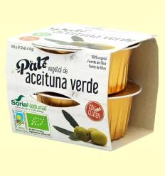 Paté Vegetal de Aceituna Verde Bio - Soria Natural - 100 gramos