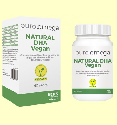 Natural DHA Vegan - Puro Omega - 60 perlas